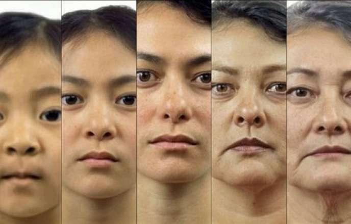 L'artiste américain Anthony Cerniello a réalisé le portrait en morphing d'une femme dont les traits passent insidieusement, en l'espace de quatre minutes, de ceux d'une enfant à ceux d'une personne âgée.