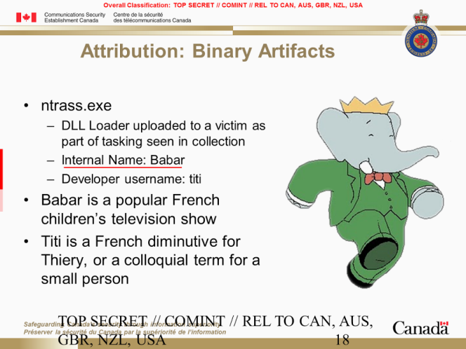 Extrait de la présentation des service canadiens dévoilant Babar, le nom donné par les développeurs à leur programme.