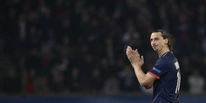 Zlatan Ibrahimovic, le 12mars au Parc des Princes.
