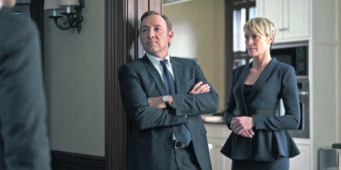 Kevin Spacey et Robin Wright, les acteurs principaux de la série «House of Cards», produite par Netflix.