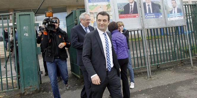 Florian Philippot, candidat FN à la mairie de Forbach (Moselle), le 23 mars.