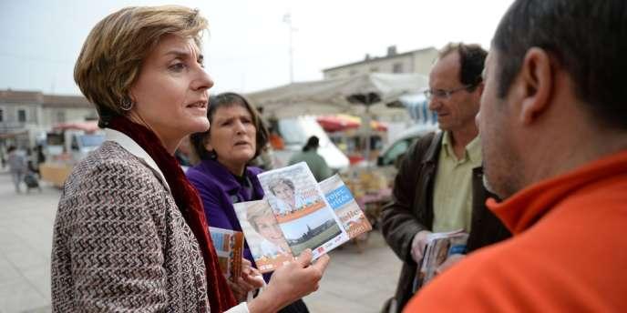 La tête de liste socialiste à Avignon, Cécile Helle, le 11mars.