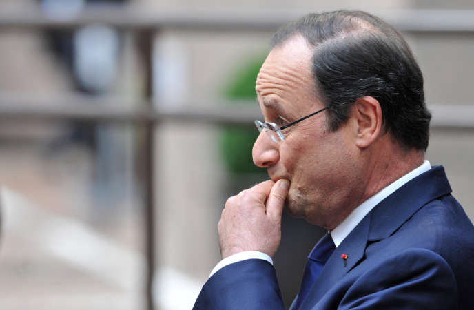 François Hollande à Bruxelles lors d'un sommet du Conseil européen, le 21 mars.