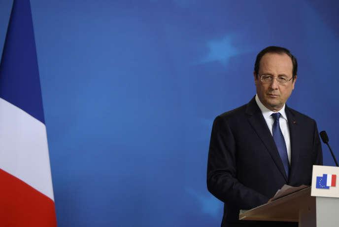 Le chef de l'Etat lors d'un sommet du Conseil européen, à Bruxelles le 21 mars.
