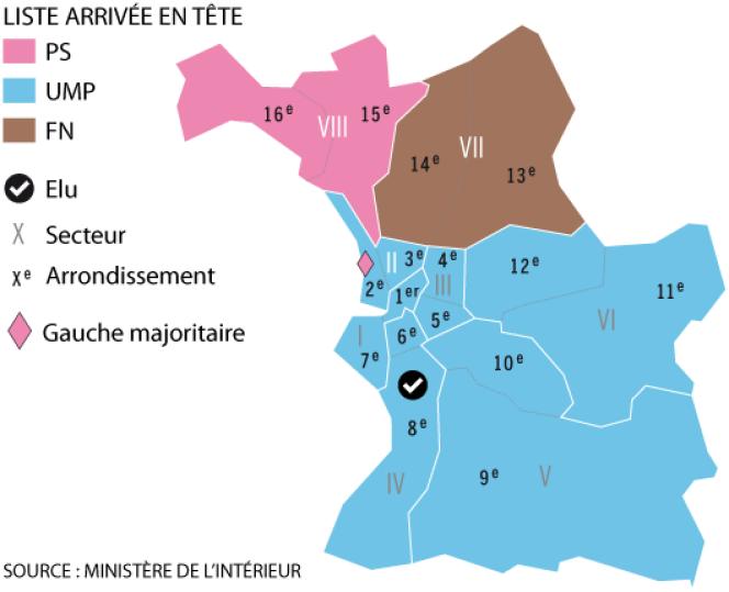 Les résultats au soir du premier tour des municipales à Marseille.
