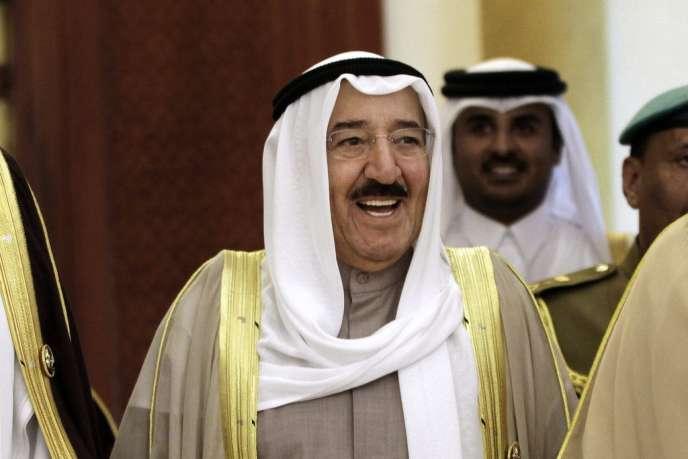 L'émir du Koweït, Sabah Al-Ahmed Al-Sabah, en décembre 2012 lors d'une réunion du Conseil de coopération du Golfe (CCG) à Barheïn.