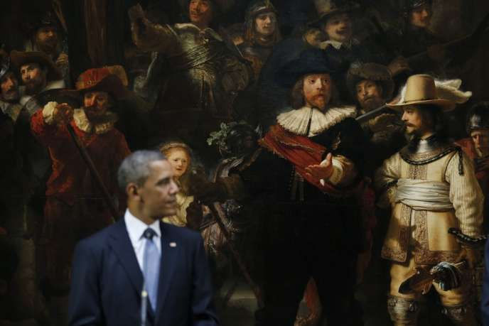 Barack Obama donne une conférence de presse devant la