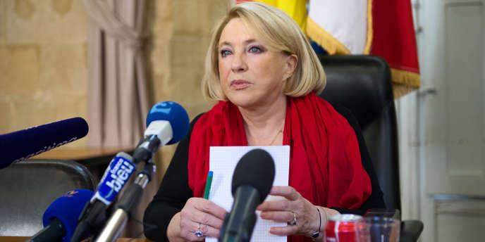 La maire sortante UMP d'Aix-en-Provence, Maryse Joissains-Masini, 71 ans, le 27 décembre 2013.