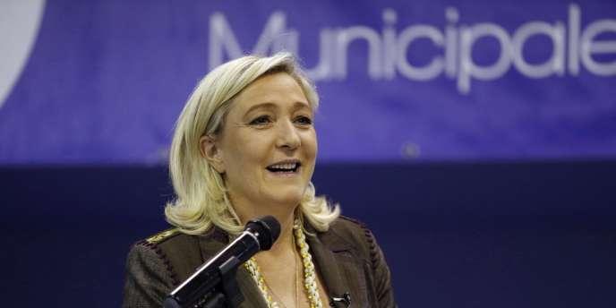 Marine Le Pen, le 18 mars.