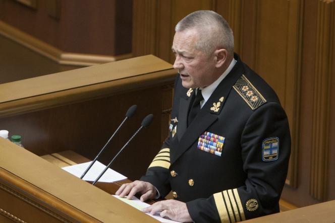 Le ministre de la défense ukrainien, Igor Tenioukh, a présenté sa démission mardi 25 mars.