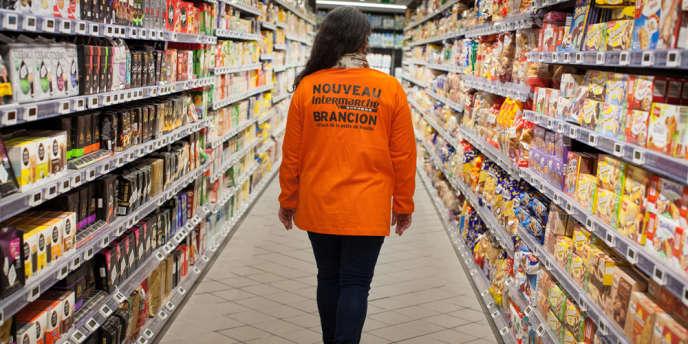 Inauguration d'un Intermarché Express, le 18 mars, dans le 15ème arrondissement de Paris.