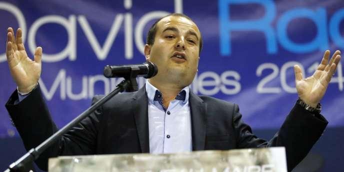 Le candidat du Front national, David Rachline, est arrivé largement en tête du premier tour des municipales (40,3 % des voix).