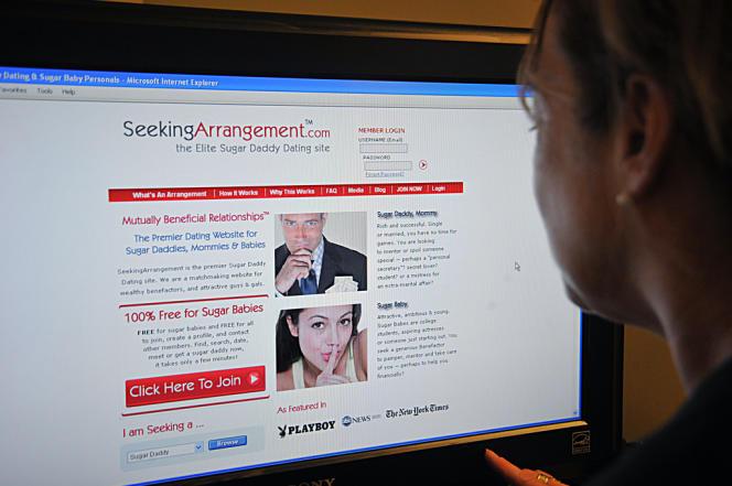 Le site SeekingArrangement.com, en 2011.