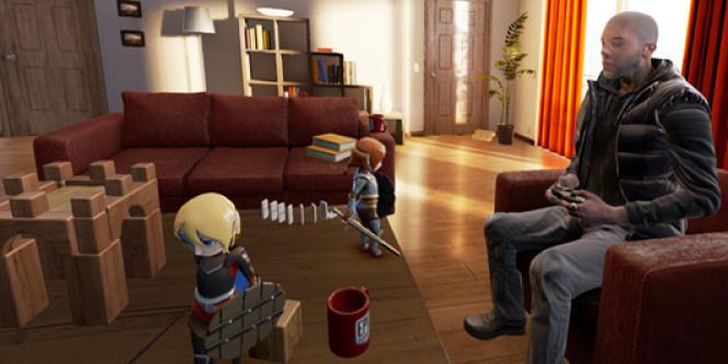 Image promotionnelle du dernier casque développé par Oculus, le DK2.