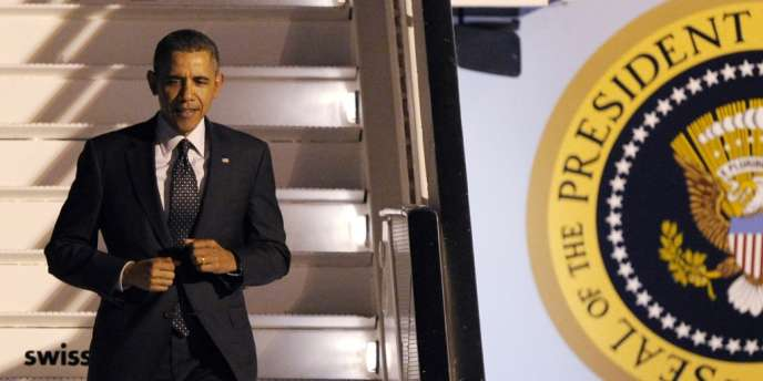 Arrivée à Bruxelles du président américain Barack Obama, mardi 25 mars.