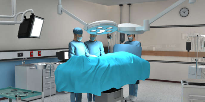 Projet de bloc opératoire virtuel en « 3D » destiné à la formation des futurs personnels hospitaliers.