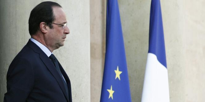 François Hollande, le 26mars à l'Elysée.