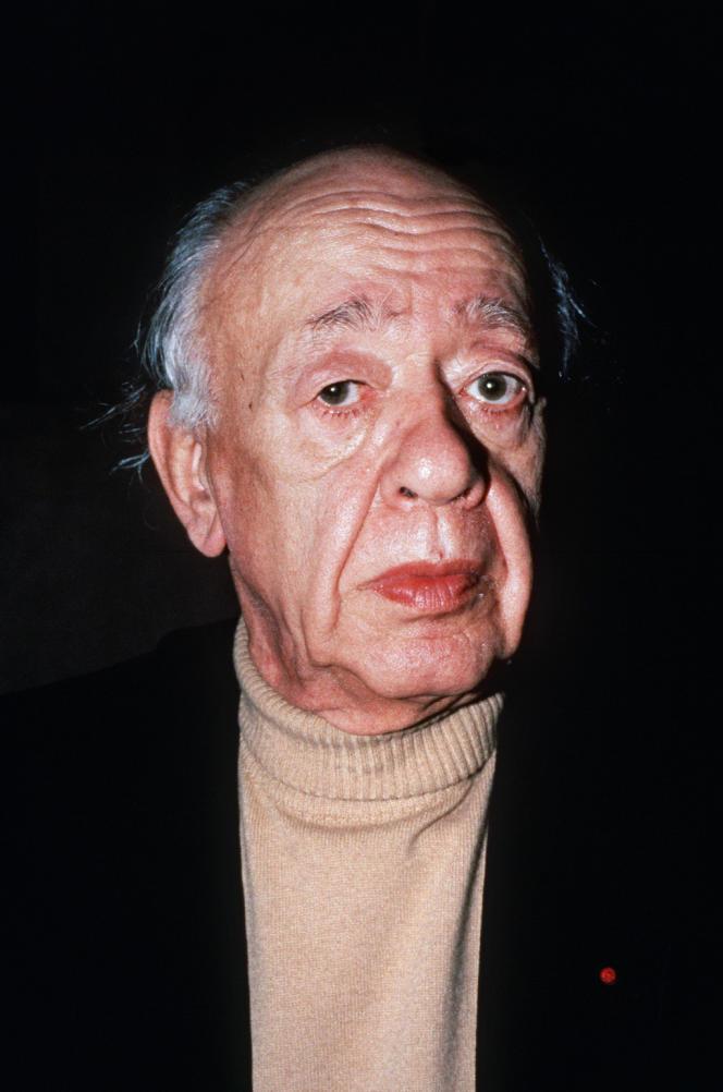 L'écrivain français d'origine roumaine Eugène Ionesco (1912-1994), le 07 décembre 1985