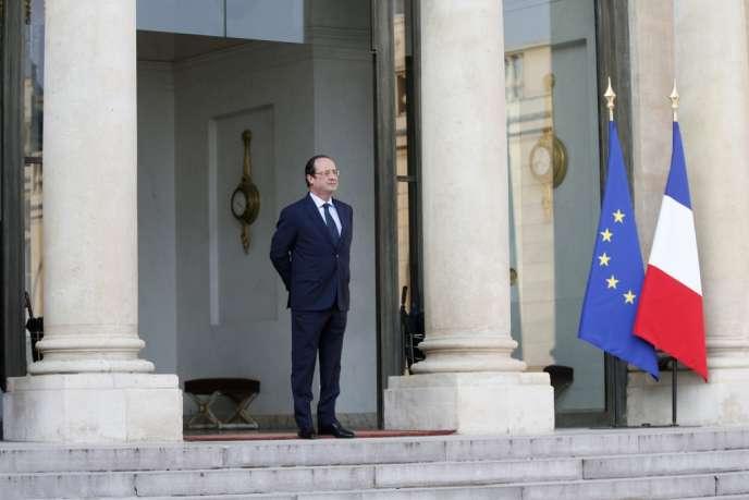 François Hollande, à l'Elysée le 26 mars.