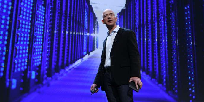 Jeff Bezos, patron fondateur d'Amazon, à New York en septembre 2011.