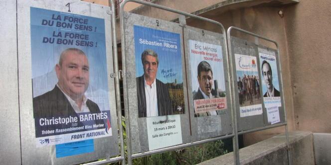 Les listes électorales à Trèbes.