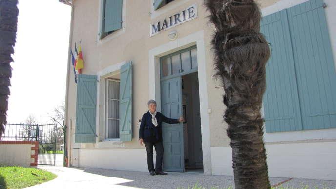 Yolande Coustet, la maire de Higuières-Sougue, dans les Pyrénées-Atlantiques.