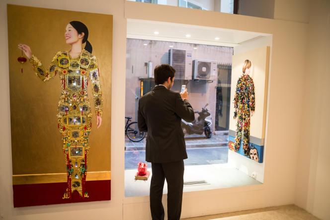 A Nice, le jeudi 27 mars, inauguration de la galerie Christian Depardieu. Ici, deux œuvres d'Olivier Lannaud.