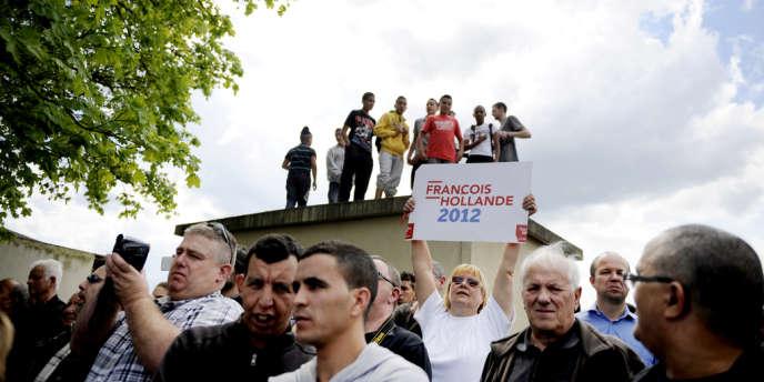 Le 4 mai 2012, deux jours avant le second tour de la présidentielle, le candidat socialiste s'était rendu à Hombourg-Haut, au cœur du bassin houiller.