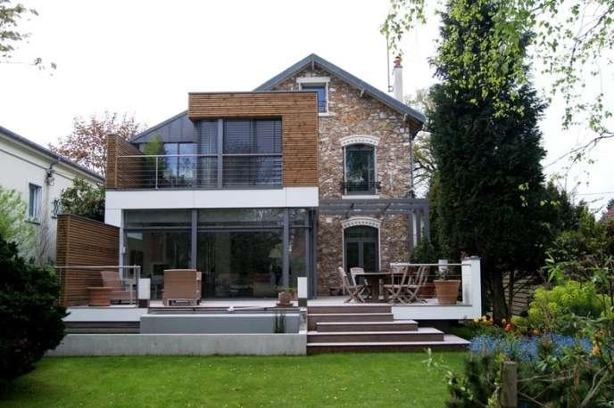 Extension d'une maison de La Celle-Saint-Cloud (Yvelines) réalisée par l'architecte David Huet.
