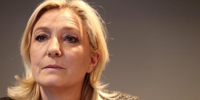 Marine Le Pen, en février.