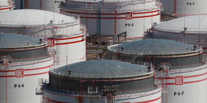 Site de stockage de gaz de la compagnie russe Lukoil dans la région de Saint-Pétersbourg.