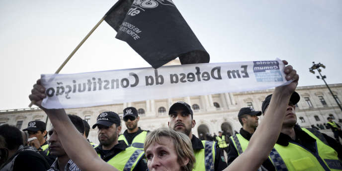 Manifestation contre les mesures d'austérité à Lisbonne, le 14 mars.