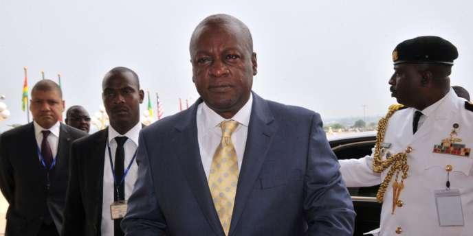 Le président ghanéen John Dramani Mahama, le 28 mars 2014.