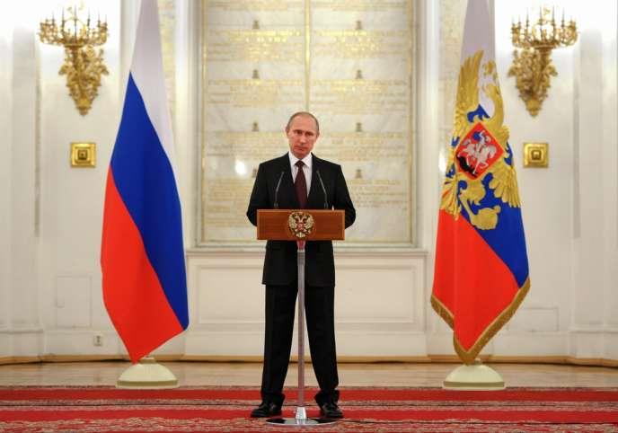 Vladimir Poutine, le 28 mars au Kremlin.