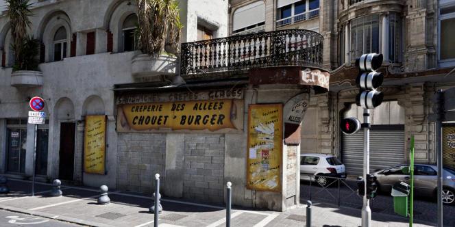 Dans le centre-ville de Béziers.