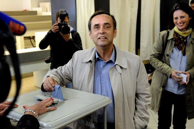 Robert Ménard a voté dimanche avec son épouse, Emmanuelle Duverger.