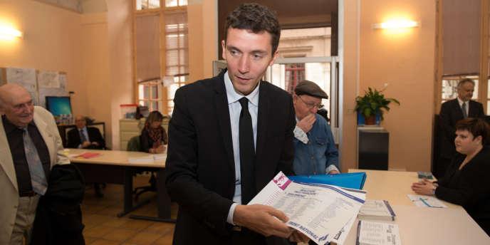 Julien Sanchez, à Beaucaire le 30 mars 2014.