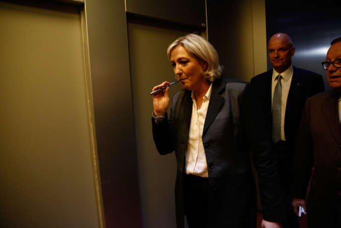 La présidente du Font national, Marine LePen, à France Télévisions.