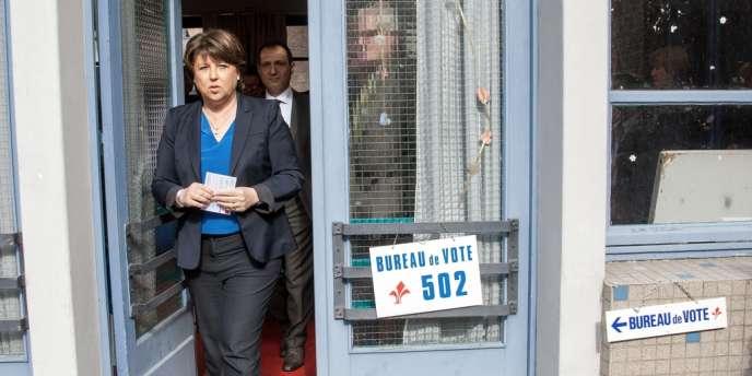 Martine Aubry, maire de Lille (PS)., le 23 mars.