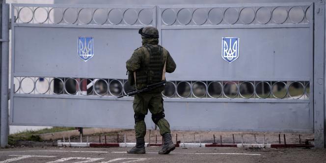 Un soldat russe en Crimée, le 20mars.