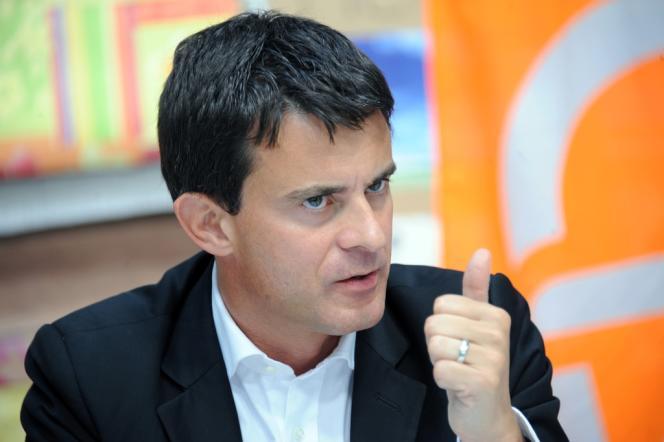 Manuel Valls le 13 septembre 2011 à Venissieux (Rhône).