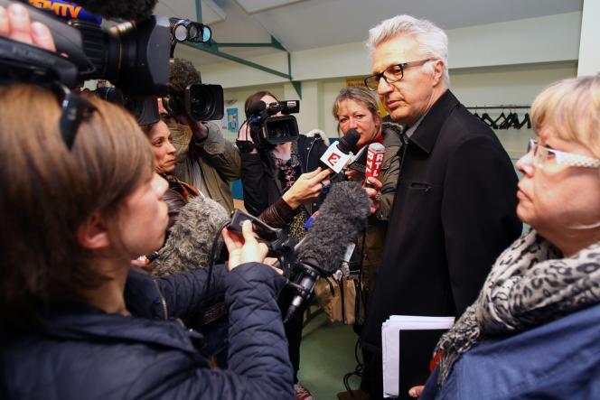 Le représentant de la CFDT à La Redoute, Jean-Claude Blanquart, après l'annonce de la signature du protocole d'accord sur le plan social.