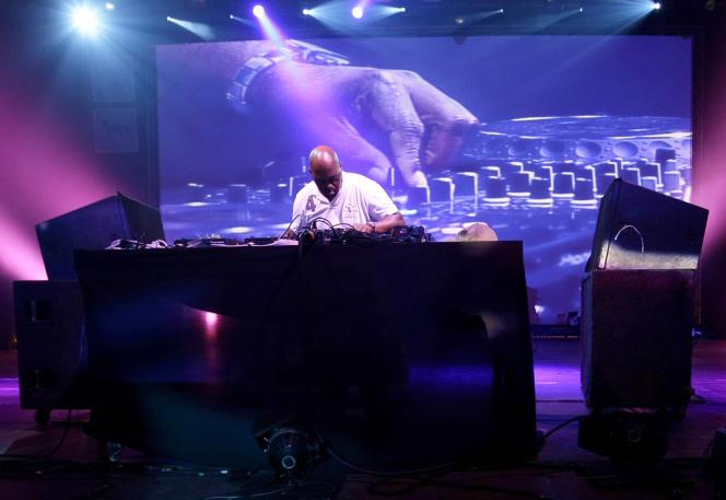 Frankie Knuckles, lors du festival Sonar, à Barcelone, le 21juin2008.
