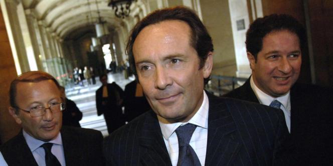 Pierre Bédier, arrive au tribunal correctionnel de Paris, le 25 septembre2006.