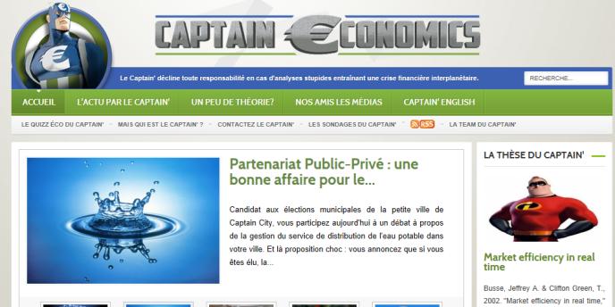 Page d'accueil du site Captain Economics.
