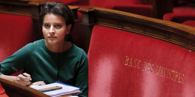 Najat Vallaud-Belkacem, ministre des sports, des droits des femmes, de la ville et de la jeunesse.