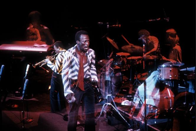 Miles Davis au Fillmore East, en 1970.