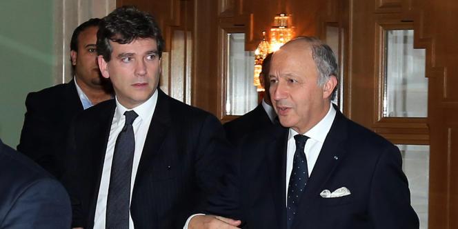 Arnaud Montebourg et Laurent Fabius, en novembre 2012.
