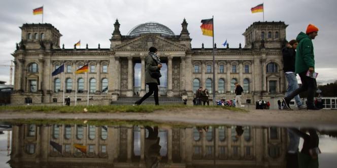 Le Bundestag, parlement allemand.