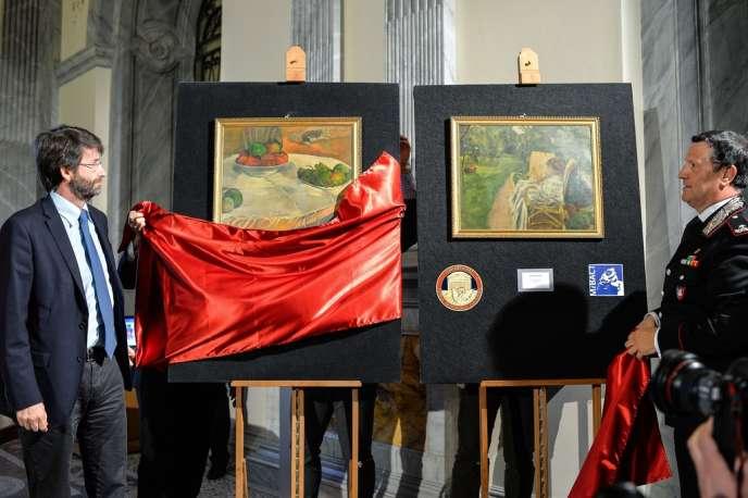 Le ministre de la culture italien Dario Franceschini dévoile les